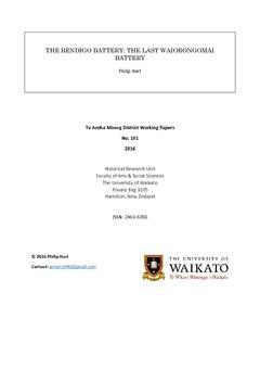 The Bendigo battery: the last Waiorongomai battery