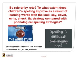By rule or by rote? To what extent does children's spelling