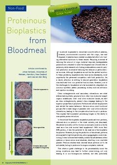 Proteinous bioplastics from bloodmeal