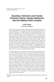 essays on habitus Pierre bourdieu was born on 1 august 1930 in a rural area of he then honed his distinctive conceptual triad of habitus essays towards a reflexive.