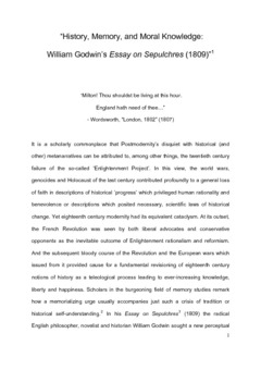 Essay On My School In English History Memory And Moral Knowledge William Godwins Essay On Sepulchres   Essay For High School Students also Healthy Living Essay History Memory And Moral Knowledge William Godwins Essay On  Essay Papers Online
