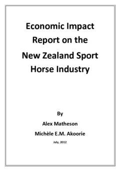 Economic impact report on the New Zealand sport horse industry